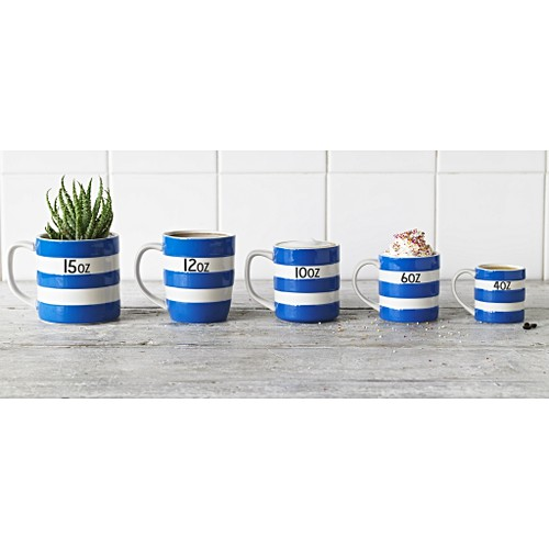 Personalised Cornishware Blue /& White Stripe Coffee Cup Mug 10oz or 15oz